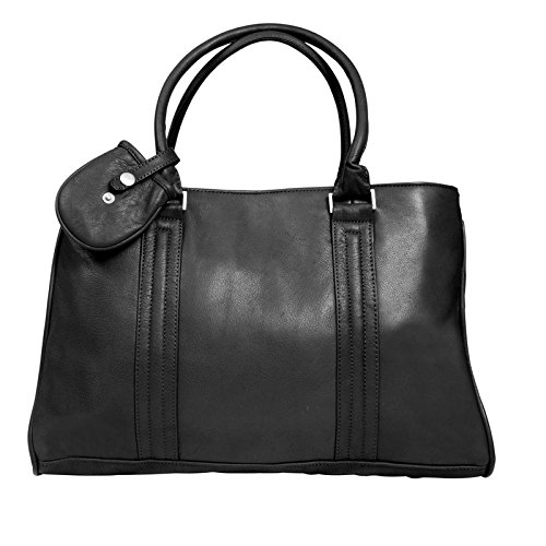 Canyon Outback Dove Creek 17-Inch Leather Laptop Briefcase, Black, One Size by Canyon Outback