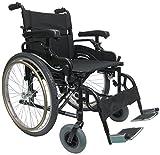 Karman KM8520F22W-HA-E Lightweight Bariatric Wheelchair with Elevating Legrest, Black, 22 x 18 Inch