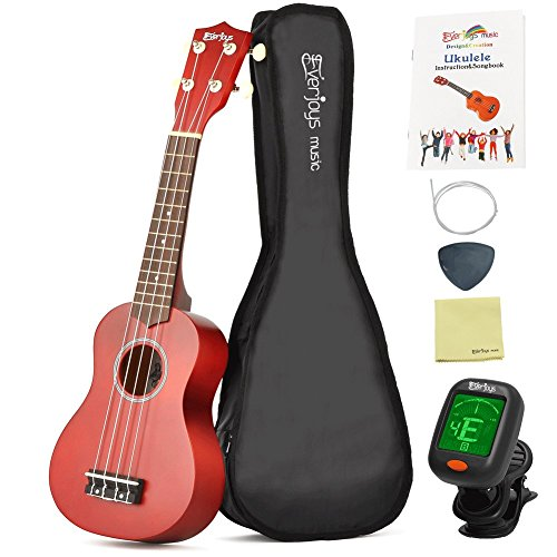 Soprano Ukulele Beginner Pack-21 Inch w/ Gig Bag How to Play