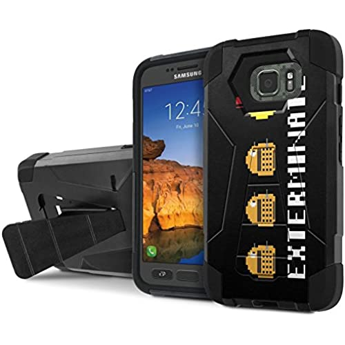 AT&T [Galaxy S7 Active] Armor Case [NakedShield] [Black/Black] Tough ShockProof [Kickstand] Phone Case - [Exterminate] for Samsung Galaxy [S7 Active] Sales