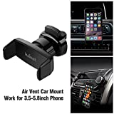 Car Mount, Kainnt Car Air Vent Smartphone Car holder for iPhone 7 7Plus,6s 6s plus,6 6Plus,5S 5C 4S Samsung Galaxy S3 S4 S5 S6 and All 3.5-5.8inch Phone Device, GPS Device (CA VCS-125)