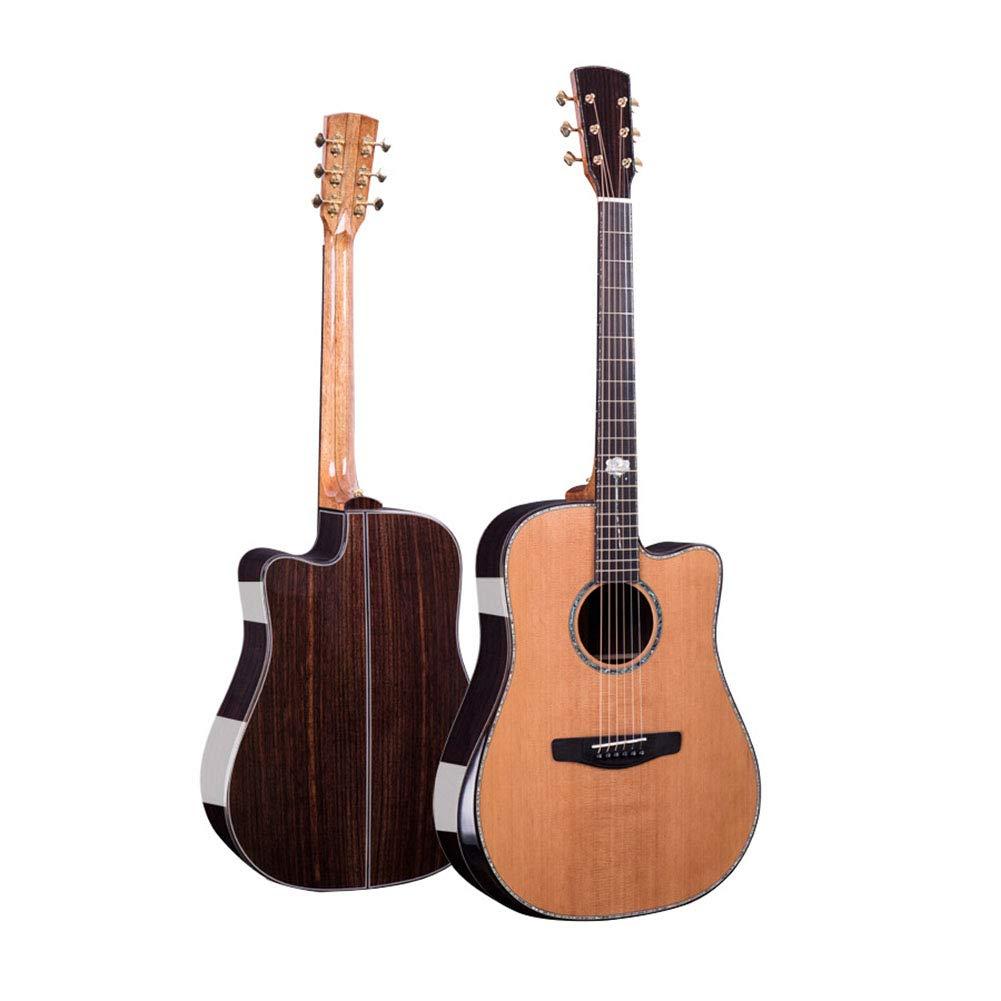 NUYI Pino Rojo De Alto Grado Completo Guitarra De Un Solo Tablero ...
