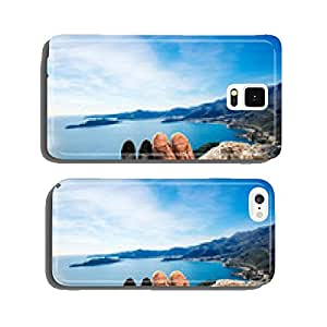 Couples legs on the mountain cell phone cover case Samsung S5