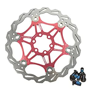 bolts Strong Alligator Windcutter Red Mountain Bike Disc Brake Rotor 180mm