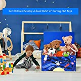 Costzon Toy Box Entryway Storage Chest/Bench with 2 Safety Hinge, Non-Toxic Environmental Paint Toy Box with Built-in Handles, Simple Assembly & Easy to Move