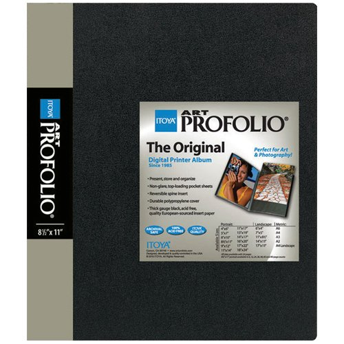 ITOYA ART Portfolio 8 1/2 x 11 Storage/Display Book - (48 Sleeves/96 Views) IA-12-48