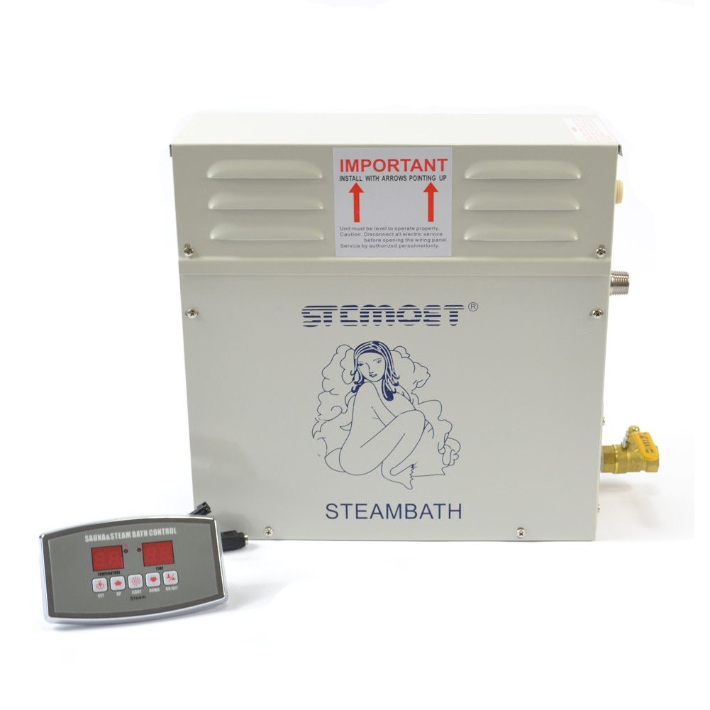 9kw 220v Steam Generator Sauna Bath Steamer for Home SPA Shower with Digital Controller Temperature and Timing