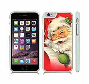 iStar Cases? iPhone 6 Plus Case with Winking Santa, Holiday Themed, Santa Reading a List and Winking , Snap-on Cover, Hard Carrying Case (White)