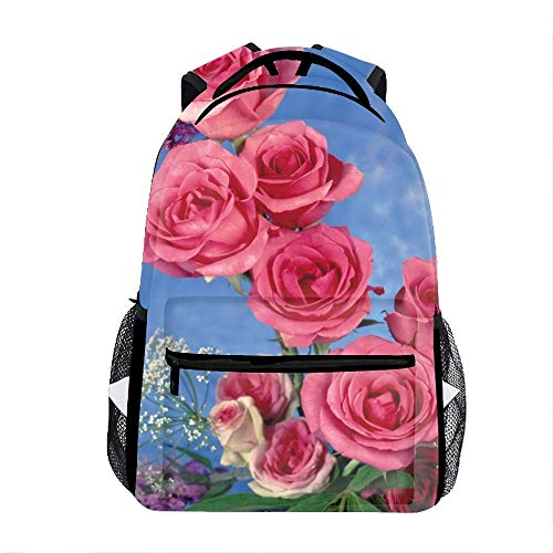 Roses Song Leaves Backpack for Kids School Laptop Backpack School Bags Rucksack Satchel Hiking -