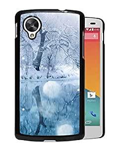 New Beautiful Custom Designed Cover Case For Google Nexus 5 With Winter Snowfall Phone Case