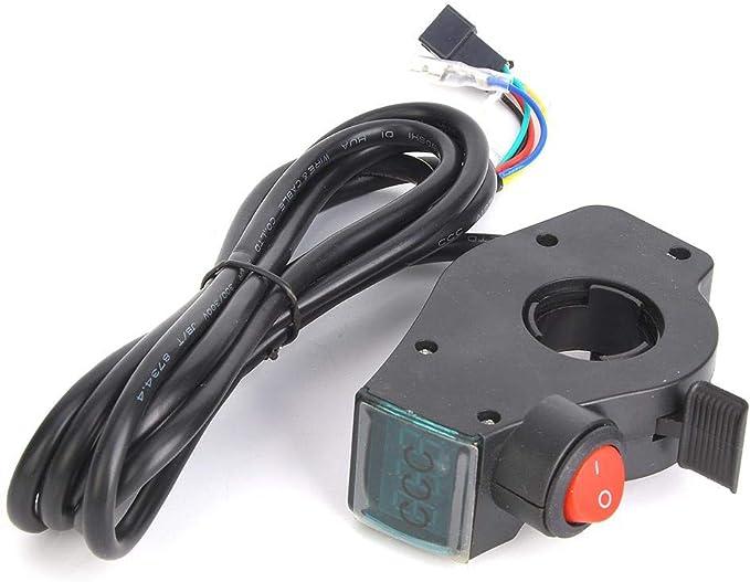 Keenso E Bike Spannungsanzeige Lcd Display Digitaler Batteriespannungsschalter Für Elektrofahrzeuge Schwarz Sport Freizeit