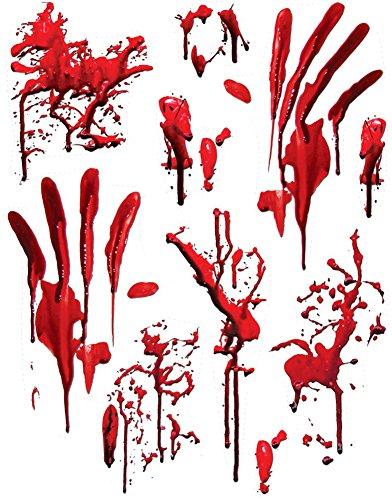 Forum Novelties Bloody Bathroom Tile Clings, Red -