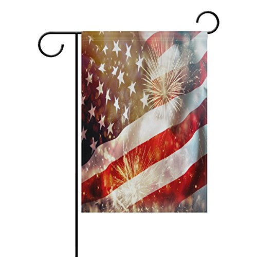ALAZA 12x18 IN Polyester Double Sided Garden Flag Celebratin