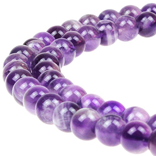 JARTC AAAA+ Natural Dreamy Amethyst Beads Round Stone Beads DIY Loose Beads for Jewelry Making Beads 15
