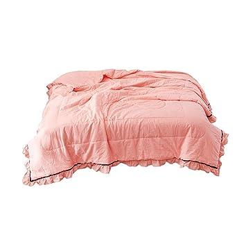 Amazon.com: Colcha de algodón fino de fibra lavable apta ...