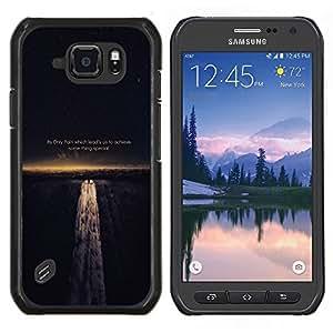 TECHCASE---Cubierta de la caja de protección para la piel dura ** Samsung Galaxy S6 Active G890A ** --DOLOR NOS GUÍA PARA LOGRAR LA SABIDURÍA DE VIDA