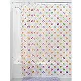 InterDesign Owlz Shower Curtain - PVC Free , 72 x 72, Pink/Purple