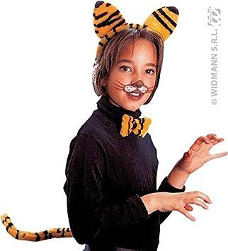 Conjunto para disfraz de tigre infantil (orejas, nariz y cola ...