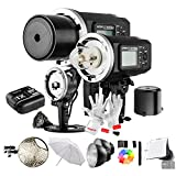 Godox AD600BM 600Ws GN87 1/8000 HSS Outdoor Flash Strobe Monolight with X1C Wireless Flash Trigger, 8700mAh Battery, Portable Flash Head and other Useful Flash Accessories