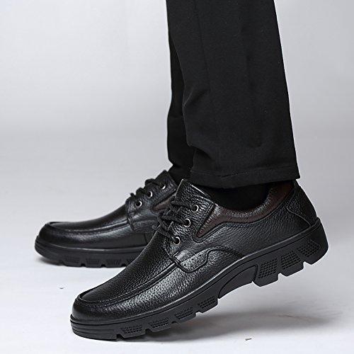 Insun Leather Up Oxford Rubber Mens Shoes Sole Black Lace rw61rz
