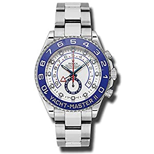 51gpjS1GmdL. SS300  - Rolex Yacht Master II White Dial Blue Bezel Stainless Steel Automatic Mens Watch 116680WAO