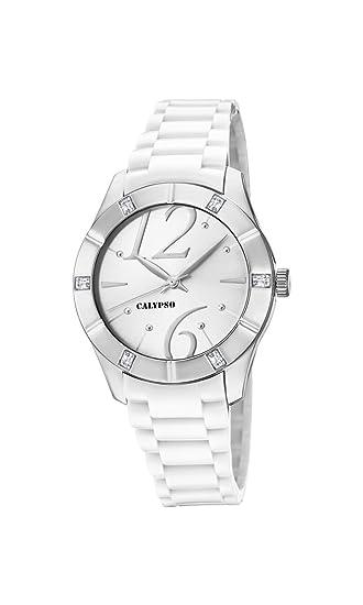 Calypso Reloj Análogo clásico para Mujer de Cuarzo con Correa en Plástico K5715/1: Calypso: Amazon.es: Relojes