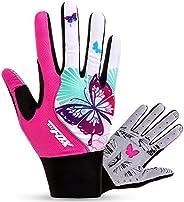 FreeMaster Full Finger Gel Girl's Cycling Gloves Touch Screen Sport Women's Half Fingerless Mountain R