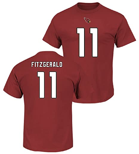 3ad174796 Larry Fitzgerald 2017-18 Arizona Cardinals Men s Majestic Red Eligible  Receiver Name and Number T