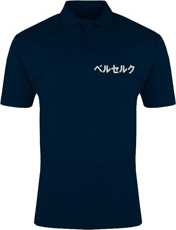Berserk Anime Manga Japan Logo Camiseta Polo Bordado para