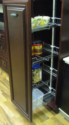 Four Basket Pull Out Pantry - Pull-out Pantry (Chrome) for Tall Cabinet 20-24