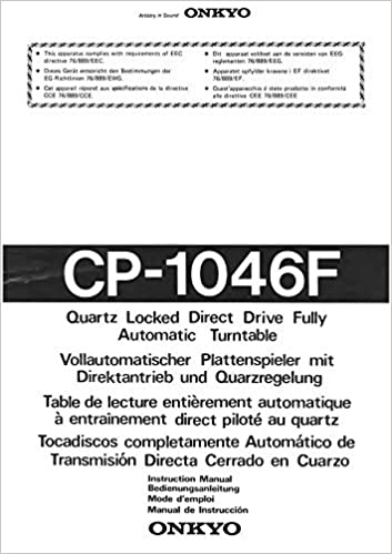 Onkyo CP-1046F Turntable Owners Instruction Manual Reprint ...