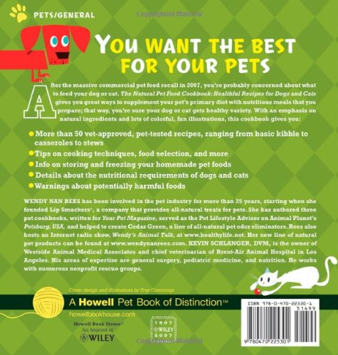 The natural pet food cookbook healthful recipes for dogs and cats the natural pet food cookbook healthful recipes for dogs and cats wendy nan rees kevin schlanger dvm troy cummings 9780470225301 books amazon forumfinder Image collections