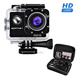 APEMAN Action Camera, Full HD 1080P Waterproof Sport Cam with 170 Wide-Angle Lens and Rechargable Battery, Include Portable Package