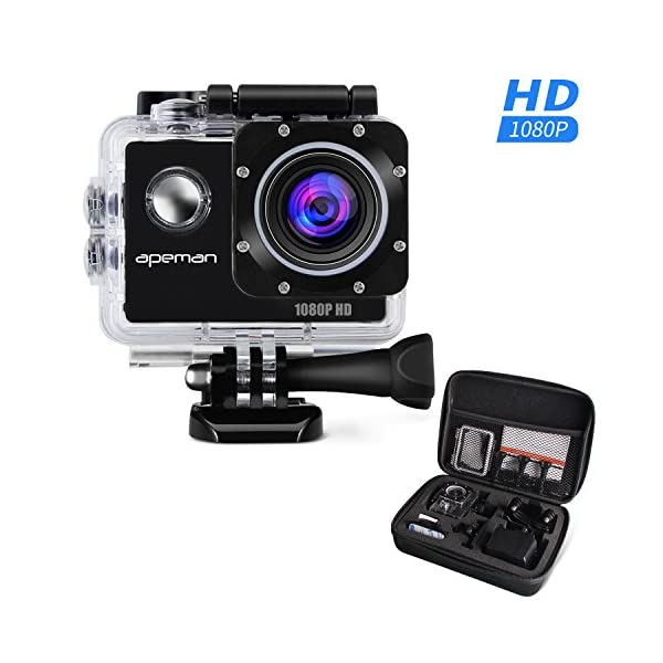 APEMAN-Action-Camera-Action-Sport-Waterproof-Cam-1080P-12MP-15-LCD-Screen-Full-HD-170-Ultra-Wide-Angle-Lens-with-Portable-Package-Case