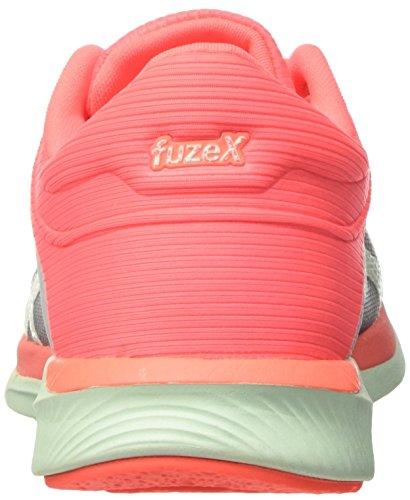 Asics Ladies Fuzex Rush Scarpe Da Corsa Multicolore (midgrey / Bay / Flash Coral)