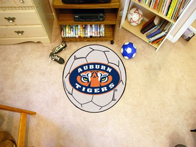 - Fan Mats Auburn University Tigers Officially Licensed Soccer Ball Area Rug -