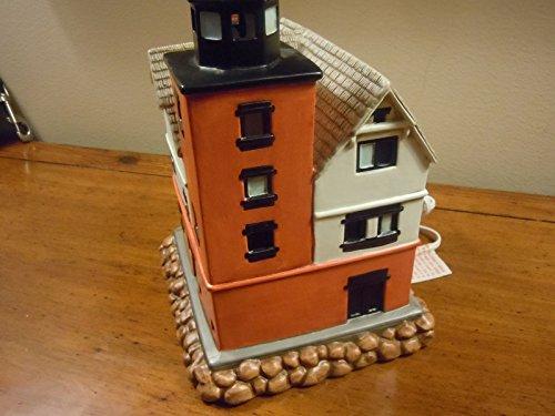 Geo Z Lefton Round Island Lighted Ceramic Lighthouse - No. (Round Island Lighthouse)