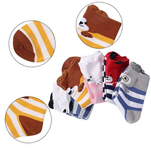 Hiver 4 Comfortables Doux Enfant De Paires Style 8 5 Aibrou Et Mignon Chaussettes Chauds Lot 2 Ans q7zgWw8