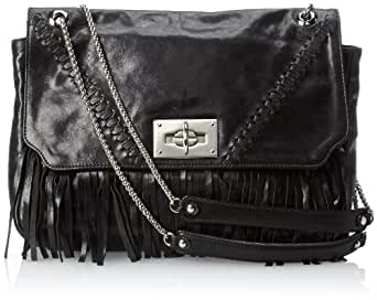 BE&D Women's Mcalbertson Leather Shoulder Bag, Onyx