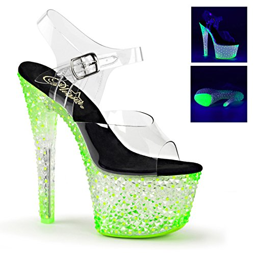 CRYSTALIZE-308PS, Ankle Strap Sandal from Pleaser