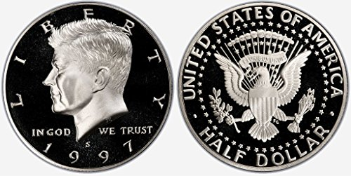 1997 S US Mint Deep Cameo Kennedy Proof Half (2006 Silver Plated)