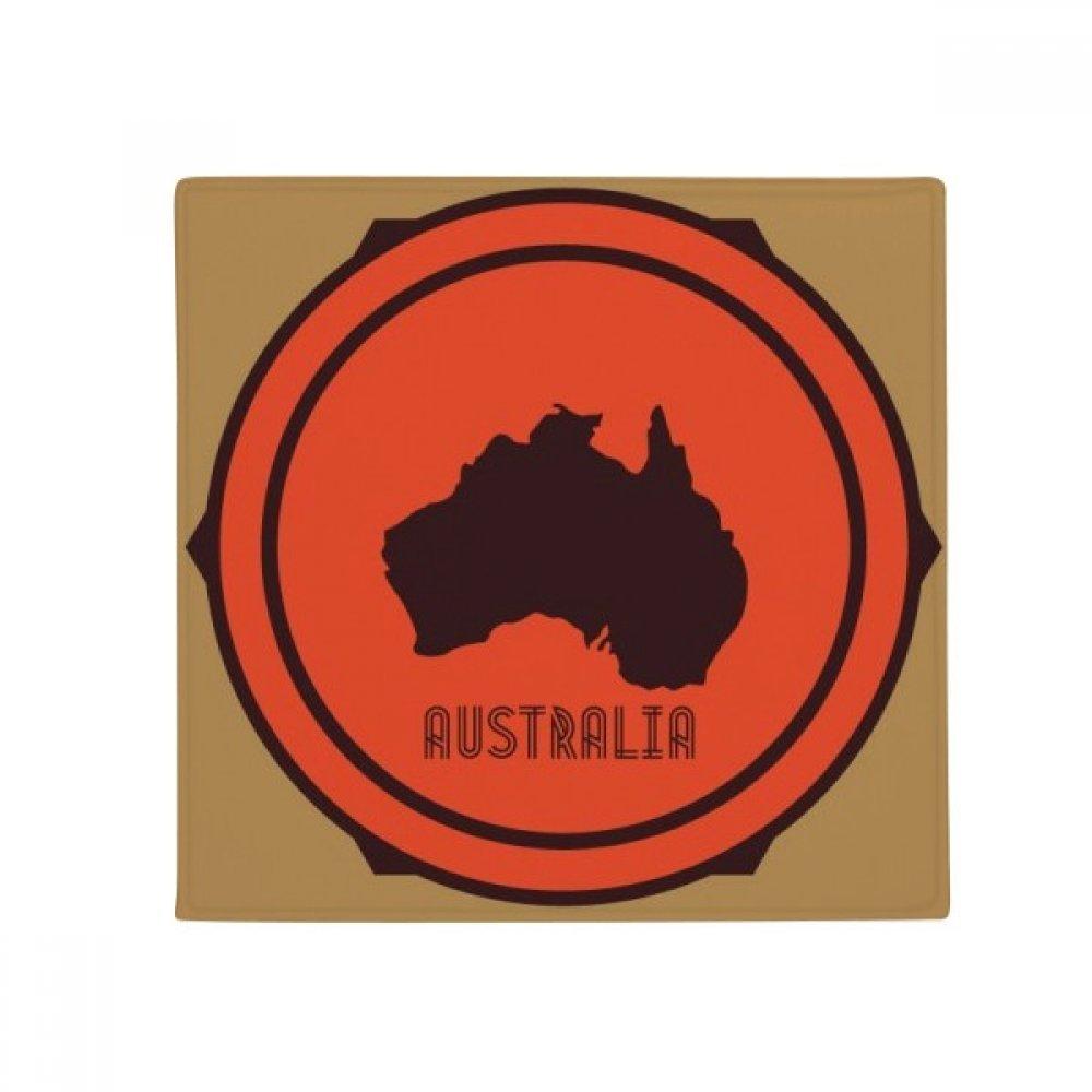 DIYthinker Australia Map Red and Black Illustration Anti-Slip Floor Pet Mat Square Home Kitchen Door 80Cm Gift