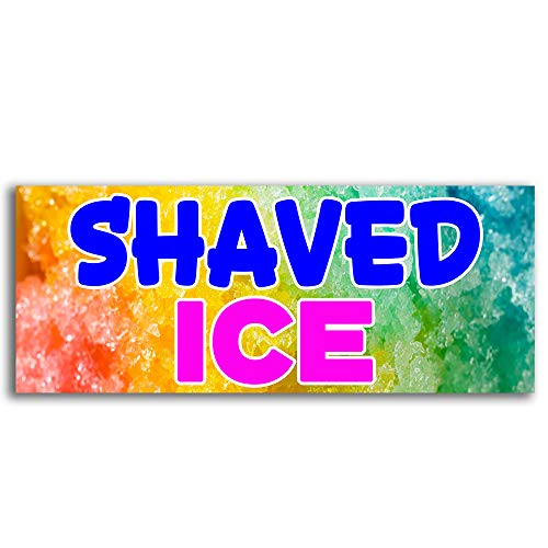 Shaved Ice Vinyl Banner 5 Feet Wide by 2 Feet ()