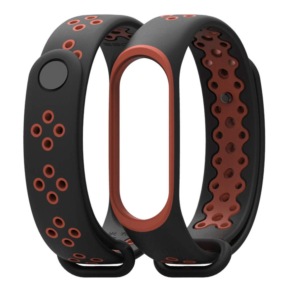 samLIKE Anti-off Wristband Sports Bracelet for Xiaomi Mi Band 3, Durable Replacement TPU, Designed for Students and Young