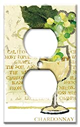 Art Plates - Chardonnay Switch Plate - Outlet Cover