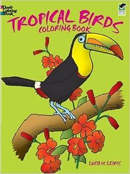 Tropical Birds Coloring Book Dover Nature