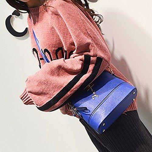 Bag Blue Ms PU Birthday Fawn Travel Female Gran Moda Shoulder Bag Calidad Color Alta Niñas Shell Espacio Pure Bag Diagonal fqH0x1w