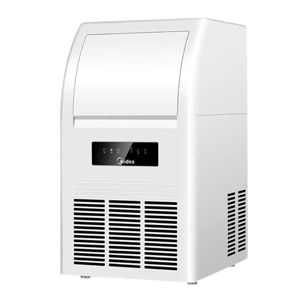 WHJ@ Ice Machine Commercial Tea Shop Automatic Household Size Ice Machine 40kg, 45 Grid Upgrade Ice Tray.