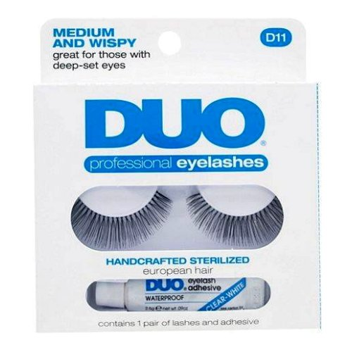 (6 Pack) DUO Eyelash Adhesive - Think and Wispy D12 Eyelashes - Medium and Wispy