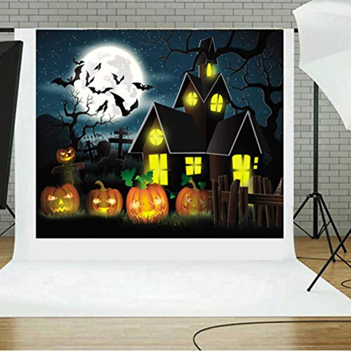 Vacally Halloween Backdrops Pumpkin Vinyl 5x3FT Lantern Background Photography Studio Art Poster Print Photo Picture Decor (B)